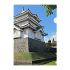 FUCHSGOLDの日本の城:忍城 Japanese castle: Oshi castle Clear File Folder