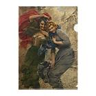 世界の絵画アートグッズのガエターノ・ベッレイ 《雨の日の彼女たち》 Clear File Folder