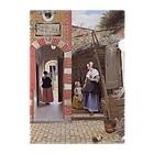 世界の絵画アートグッズのピーテル・デ・ホーホ 《デルフトの中庭》 Clear File Folder