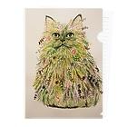 ソーメンズのボタニカル猫 Clear File Folder