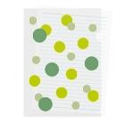 やまとねこのみどりの水玉 Clear File Folder
