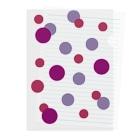 やまとねこのぶどうの水玉 Clear File Folder