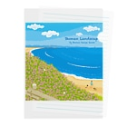 湘南デザイン室:Negishi Shigenoriの湘南ランドスケープ08:海辺のハマダイコン Clear File Folder