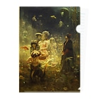 世界の絵画アートグッズのイリヤ・レーピン 《海底の王国でのサドコ》 Clear File Folder