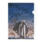 世界の絵画アートグッズのカイ・ニールセン《魔法の笛を吹く若い兵士と集まる鳥の群れ》 Clear File Folder