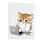 mofusandの在宅勤務にゃん Clear File Folder