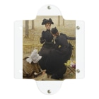 世界の絵画アートグッズのヴィットリオ・マッテオ・コルコス 《リュクサンブール公園での会話》 Clear Multipurpose Case