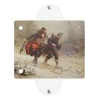世界の絵画アートグッズのKnud Bergslien《Skiing Birchlegs 王子と山を渡る》 Clear Multipurpose Case