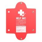 SANKAKU DESIGN STOREのHELP ME! アナフィラキシー補助治療剤 注射ケース。 RED Clear Multipurpose Case