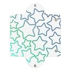 つきしょっぷの緑色のグラデーションの星 Clear Multipurpose Case
