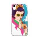 7_nanaのタピ姫A Clear smartphone cases