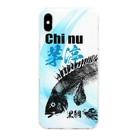 くまさん工房のチヌ魚拓スマホケース001 Clear smartphone cases