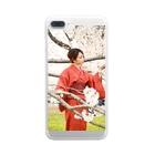 mi-ya.@完全体ニャースの桜mi-ya. Clear smartphone cases