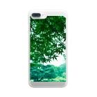 fuuku-sの雨の緑に囲まれて Clear smartphone cases