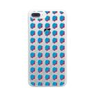 SANKAKU DESIGN STOREの赤青/青赤 ブラシ水玉模様。B Clear smartphone cases