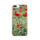 Juli Meerのポピー  Clear smartphone cases