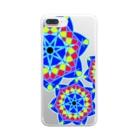 Risa*のキラキラステンドグラス Clear smartphone cases