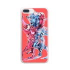 PINKMANの3heads Clear smartphone cases