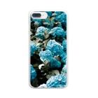 アオフジマキのアジサイ Clear smartphone cases