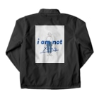 ROOO STOREのi am not young Coach Jacketの裏面