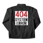 アメリカンベースのシステムエラー 404 Coach Jacketの裏面