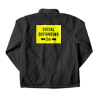 2mの SOCIAL  DISTANCING Coach Jacketの裏面
