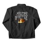 ハンバーグ王子のハンバーググッズオンラインショップ「1日1バーグ」のにくを迷言集「ちーずを入れたって」 Coach Jacketの裏面