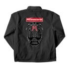 DRIPPEDのMIL MASCARAS-ミル・マスカラス-赤ボックスロゴ Coach Jacketの裏面