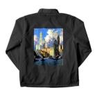 世界の絵画アートグッズのコリン・キャンベル・クーパー 《ハドソン河畔》 Coach Jacketの裏面
