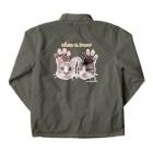 なにぬ猫-YAのうちの子にくきゅうポートレート★カーオ&ダーオ Coach Jacketの裏面