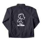 egu shopのi'm a  dog person. (white) Coach Jacketの裏面
