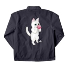 Tio Heartilのコップ猫ちゃん Coach Jacketの裏面