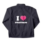 yossibleのI LOVE EVERYTHING Coach Jacketの裏面