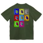 Chien de cirque サーカスの犬の ハリー君 in pop art  Dry T-shirts