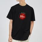 りんごやさん。のあーとりんご くろ Dry T-shirts