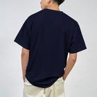 Planet Evansの紺と白の四つ葉柄 Dry T-shirts