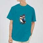ヤママユ(ヤママユ・ペンギイナ)の着物ぺんぎん―モダンきもののケープとフンボ― Dry T-Shirt
