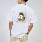 ねこや久鶻堂の風猫雷猫図屏風 Dry T-shirts