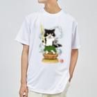 ねこや久鶻堂の金剛猫士像 Dry T-shirts