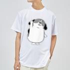 マツバラのもじゃまるはーい! 白黒 Dry T-shirts