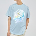 スーパーわんわんズの波乗りマルプー Dry T-shirts