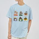 ちなきのこの野生動物缶 6点セット Dry T-shirts