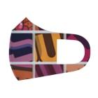 レターオールソーツのFruit Salad - 9tiles Full Graphic Mask