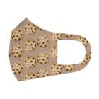 榎木ゆきのにくらしいチョコチップクッキーのパターン Full Graphic Mask