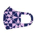 黒塚アキラ│本業×副業逆転目標🎶の模様(青+ピンク+チェック) Full Graphic Mask
