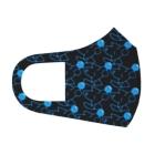 ワン太フルのTシャツ屋さんのぶるーふぉっくす ブラック Full Graphic Mask