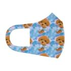 NORIMA'S SHOP のかわいいトイプードルの子犬と夢かわいい雲のイラスト Full Graphic Mask