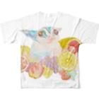 chiro's storeのフクロモモンガVer.8 フルグラフィックTシャツ