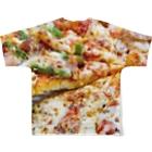 真白しょう太のDon't Stop Eating Pizza! Full graphic T-shirtsの背面