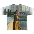 htomineのhitode-india Full graphic T-shirtsの背面